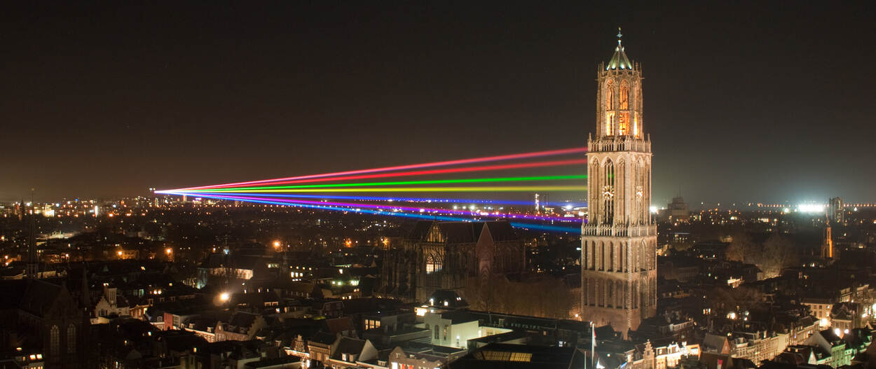 Utrecht with Sol Lumen artwork in 2011